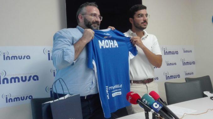 Luis Manuel Rincón, pte de la UD Melilla, y Mohamed Mohamed Mohand, pte de Inmusa