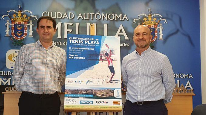 El viceconsejero de Deportes, Jalid Said y el pte de la territorial melillense, Pablo Martínez