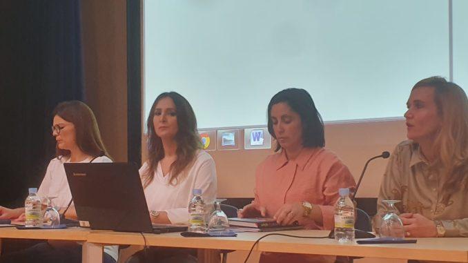 Las ponentes de la conferencia 'Mujer y Medios de Comunicación'
