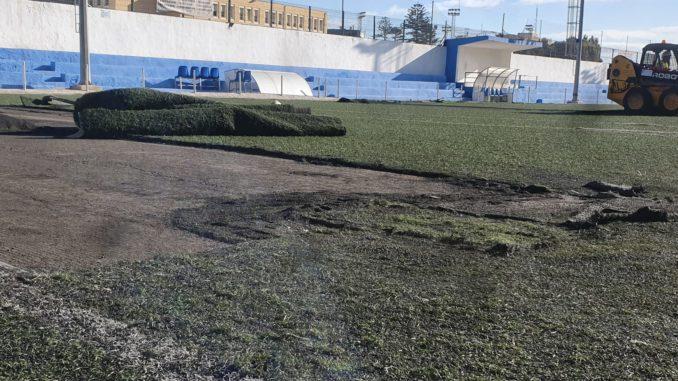 Comienza de las obras de las instalaciones deportivas Fernando Pernía (Tesorillo)