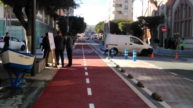 Ya está inaugurado el nuevo vial del carril bici en la calle Marqués de los Vélez