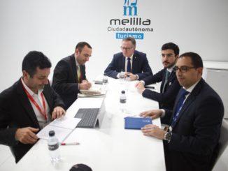 Reunión entre AENA y los representantes de Melilla en FITUR