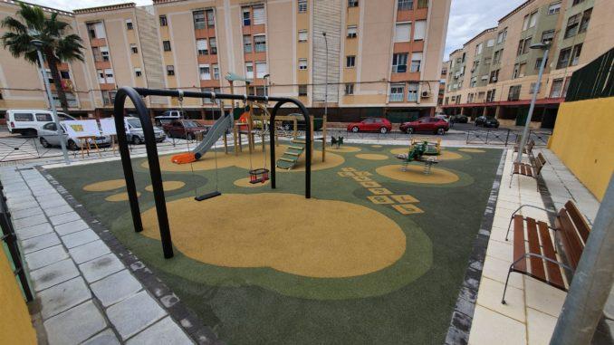 Nuevo parque infantil de las Palmeras