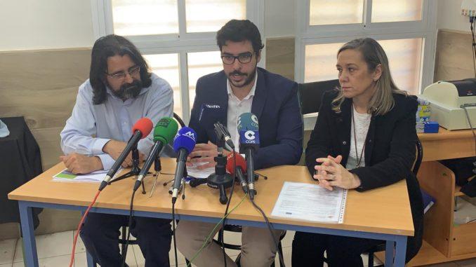Berbel, Mohand y García, durante la firma del acuerdo de colaboración