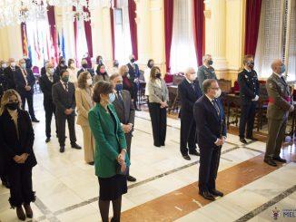 Asistentes el acto por el Día de la Constitución Española